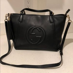 a2419bca08c Gucci Bags - Gucci Soho Leather Top Handle Bag
